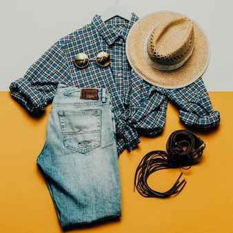Cowboy country outfit draufsicht