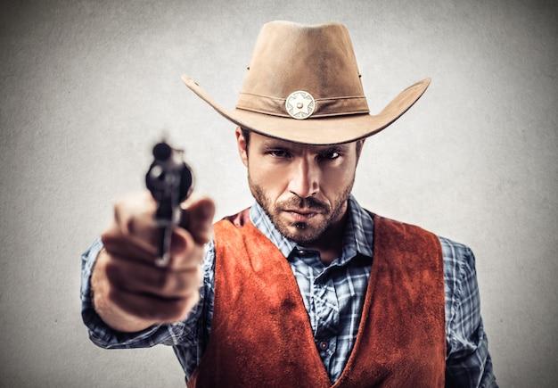 Cowboy mit einer waffe