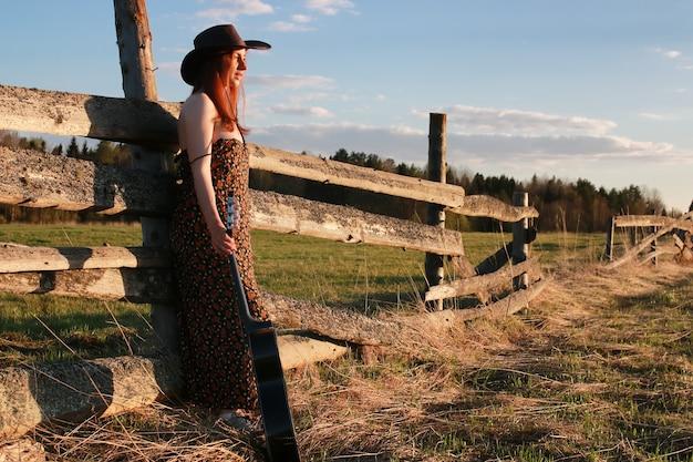 Cowgirl hut natur