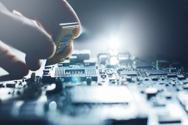 Cpu-hardware-upgrade der motherboard-komponente