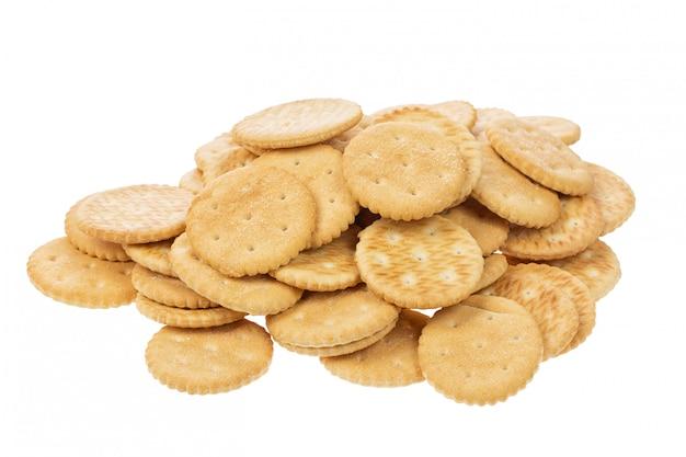 Crackerplätzchen mit dem salz lokalisiert