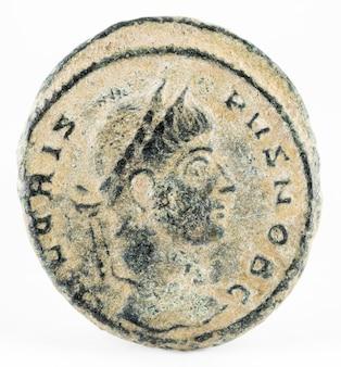 Crispus. römische münze.