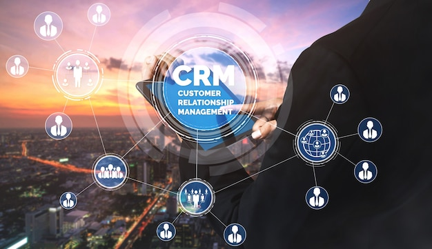 Crm customer relationship management für das konzept des business sales marketing systems