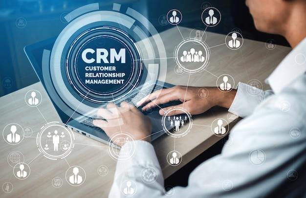 Crm customer relationship management für das konzept des business sales marketing systems