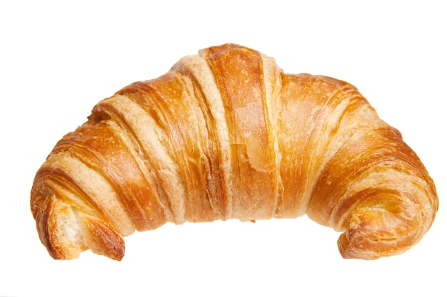 Croissant isoliert auf weiß