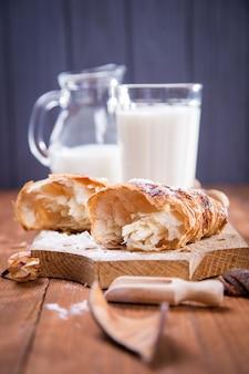 Croissant mit milch