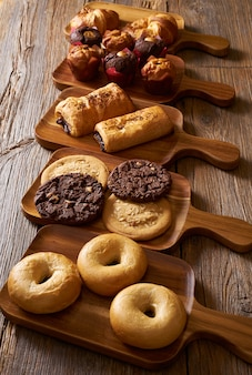 Croissant muffin cookie bagel und neapolitaner