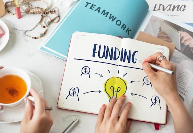 Crowdfunding-finanzierung hilft gemeinnütziges konzept