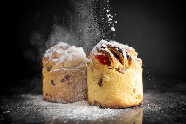 Cruffins, der moderne backtrend des jahres ist puffmuffin, eine mischung aus croissants und cupcakes.