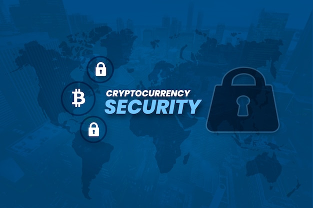 Cryptocurrency bitcoin block chain-sicherheitsfoto