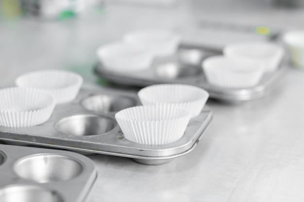 Cupcake auflaufform. professionelle kochutensilien