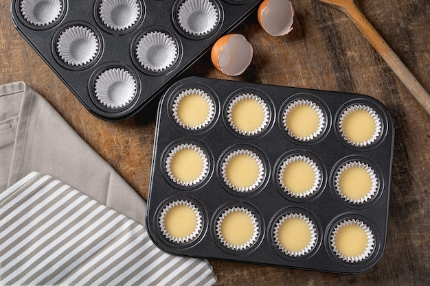 Cupcake butter in metallschale