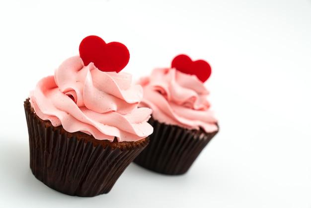 Cupcake pink habe ein herz an der spitze