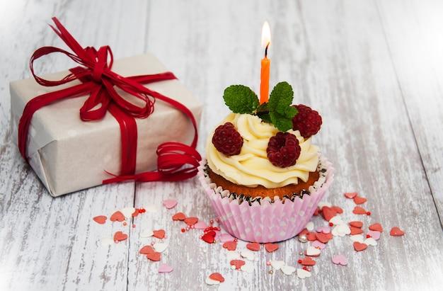 Cupcake und kerze