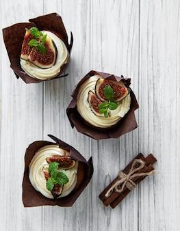 Cupcakes mit feigen