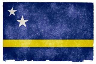 Curacao grunge flag