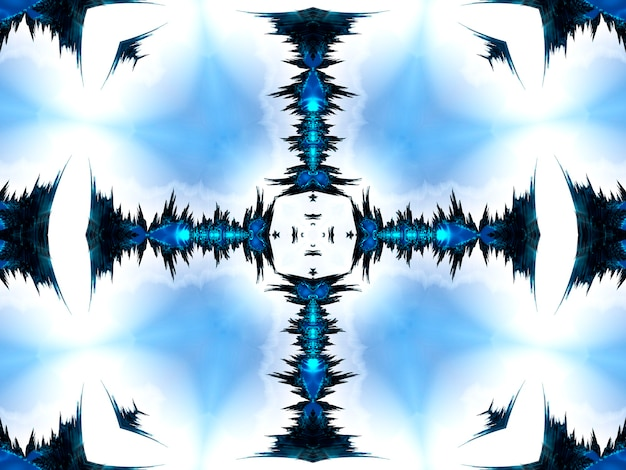 Cyan neonmuster. nahtloses aztekisches muster. süße endlose verzierung. modernes volksdesign. vintage-boho-design. geometrischer volksstil. indigo, schwarz, weiß, cyan, afrikanische neon-kunstzeichnung.