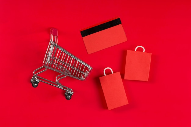 Cyber montag einkaufselemente