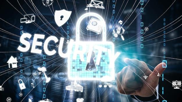 Cyber-sicherheit und digitaler datenschutz konzeptionell