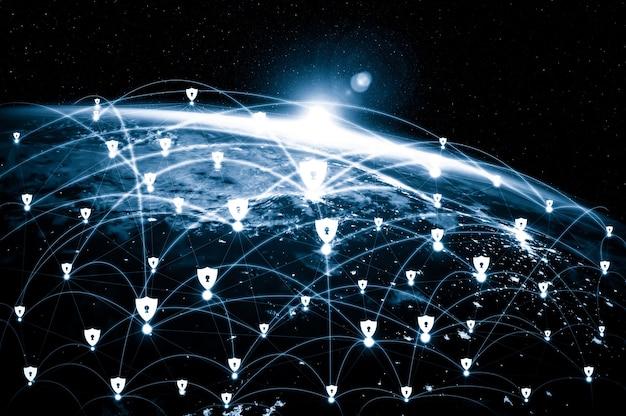Cyber-sicherheitstechnologie und online-datenschutz in einer innovativen wahrnehmung