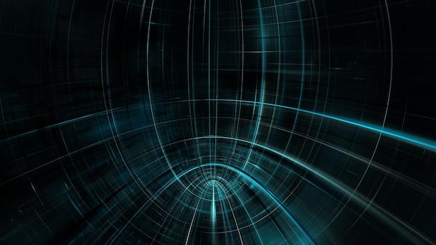 Cyberpunk-gebäude der zukunft, science-fiction, neonlicht-wolkenkratzer abstrakte neonstadt, sky-fi-metropole der zukunft. 3d-rendering