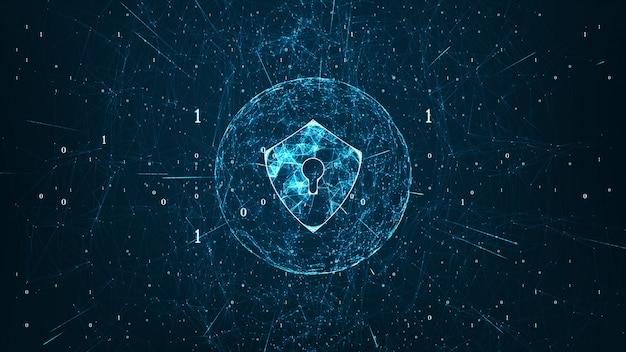 Cybersecurity-konzept