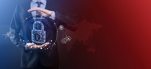 Cybersecurity-netzwerk und internet-technologie-netzwerk