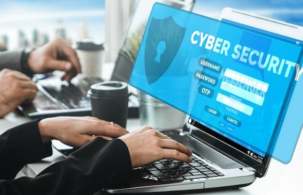 Cybersicherheit und digitaler datenschutz