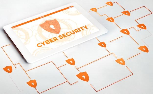 Cybersicherheit und digitales datenschutzkonzept