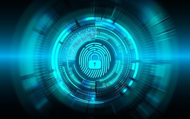 Cybersicherheitshintergrund für fingerabdrucknetzwerke Premium Fotos