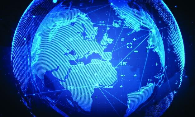 Cyberweltnetzhintergrund. globale geschäftstechnologie