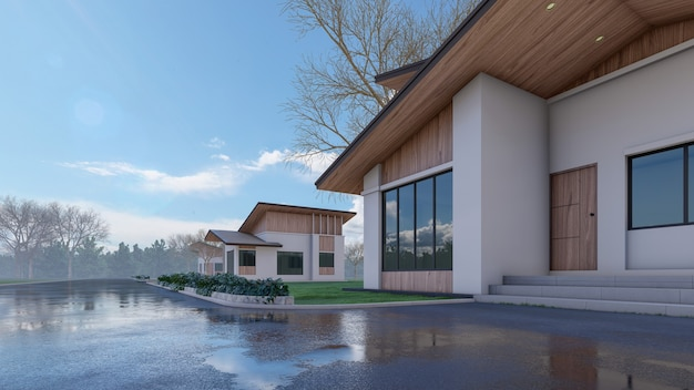 D architekturhaus rendern