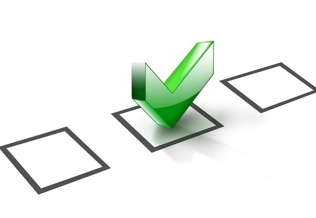D checkliste symbol computer generiert für ihre projekte