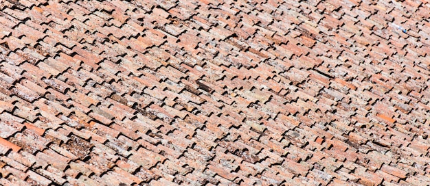 Dach mit fliesen hintergrund