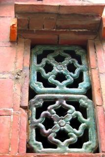 Dachgeschoss in einem traditionellen chinesischen hof vent