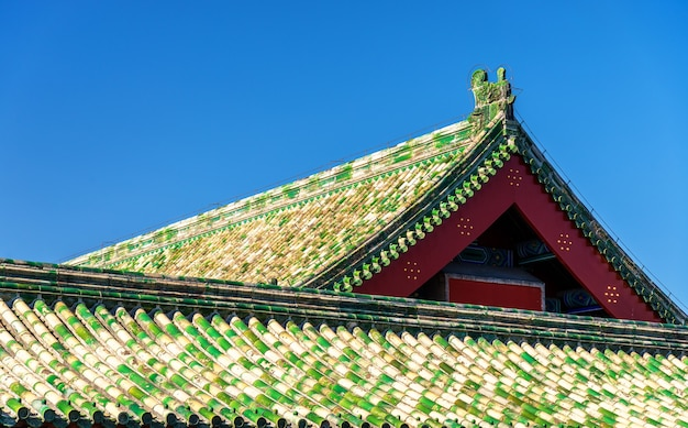 Dächer des himmelstempels in peking