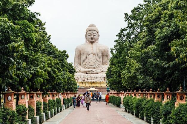 Daibutsu, die große buddha-statue in meditationshaltung oder dhyana mudra sitzend