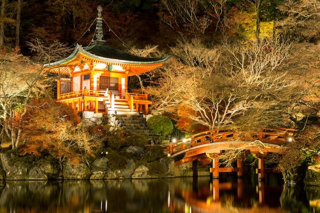 Daigoji-tempel kyoto japan nacht