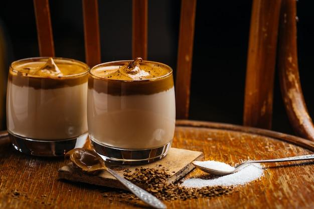 Dalgona instantkaffeegetränk