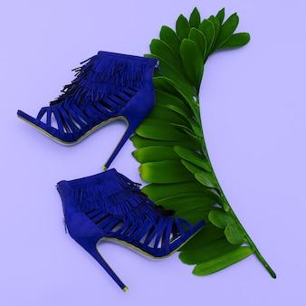 Damenschuhe high heels. stil. mode. minimales designkonzept