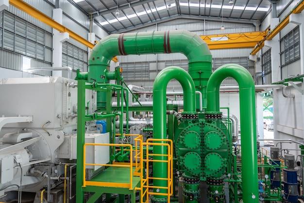 Dampfausrüstung im kraftwerk