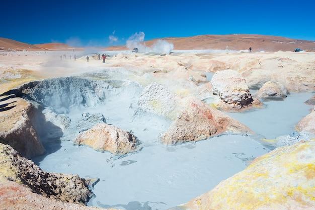 Dampfend heiße teiche auf den anden, bolivien