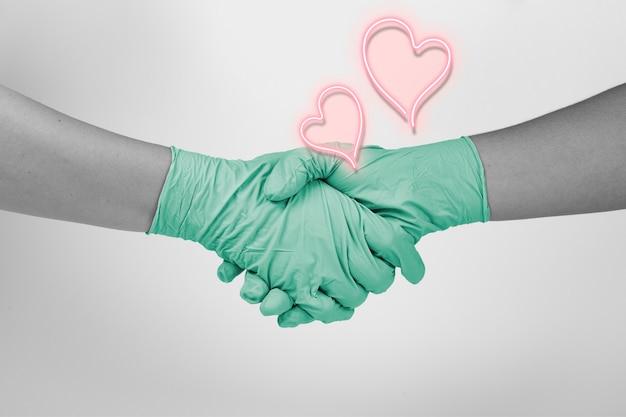 Danken sie den krankenschwestern und dem medizinischen personal für ihre harte arbeit während des ausbruchs des coronavirus
