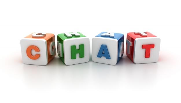 Darstellung von kachelblöcken mit chat word rendern