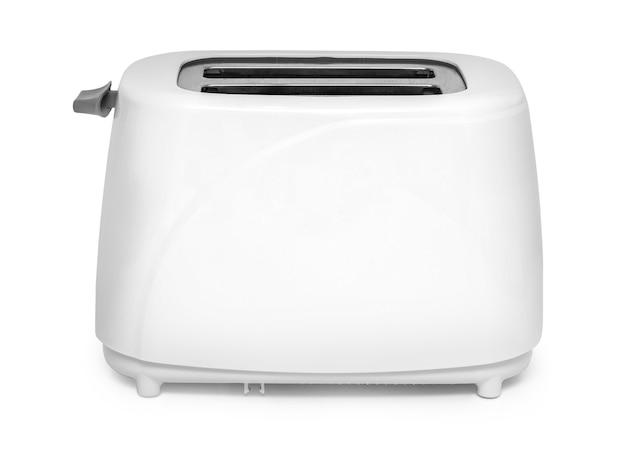 Das bild des toasters unter dem weißen hintergrund, mit beschneidungspfad