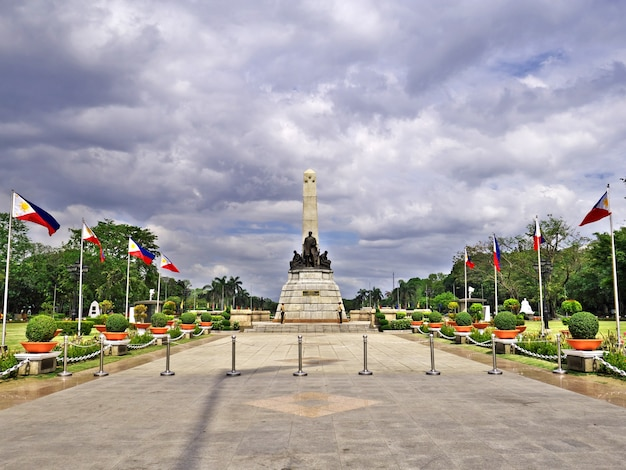Das denkmal in der stadt manila philippinen