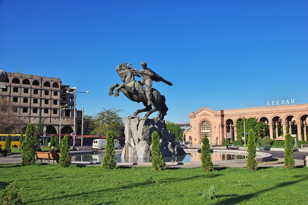 Das denkmal in eriwan, armenien