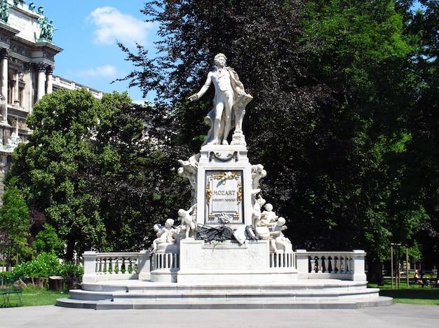 Das denkmal von mozart in wien, österreich
