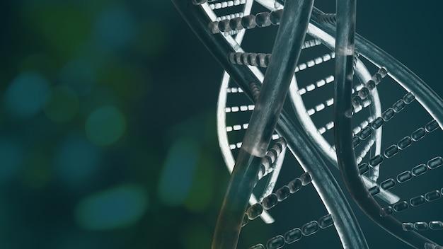 Das dna-bild für das 3d-rendering von sci oder medizinischen inhalten.