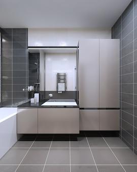 Das einzigartige design des badezimmers